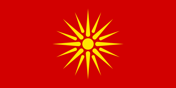 Eerste vlag van Macedonië.