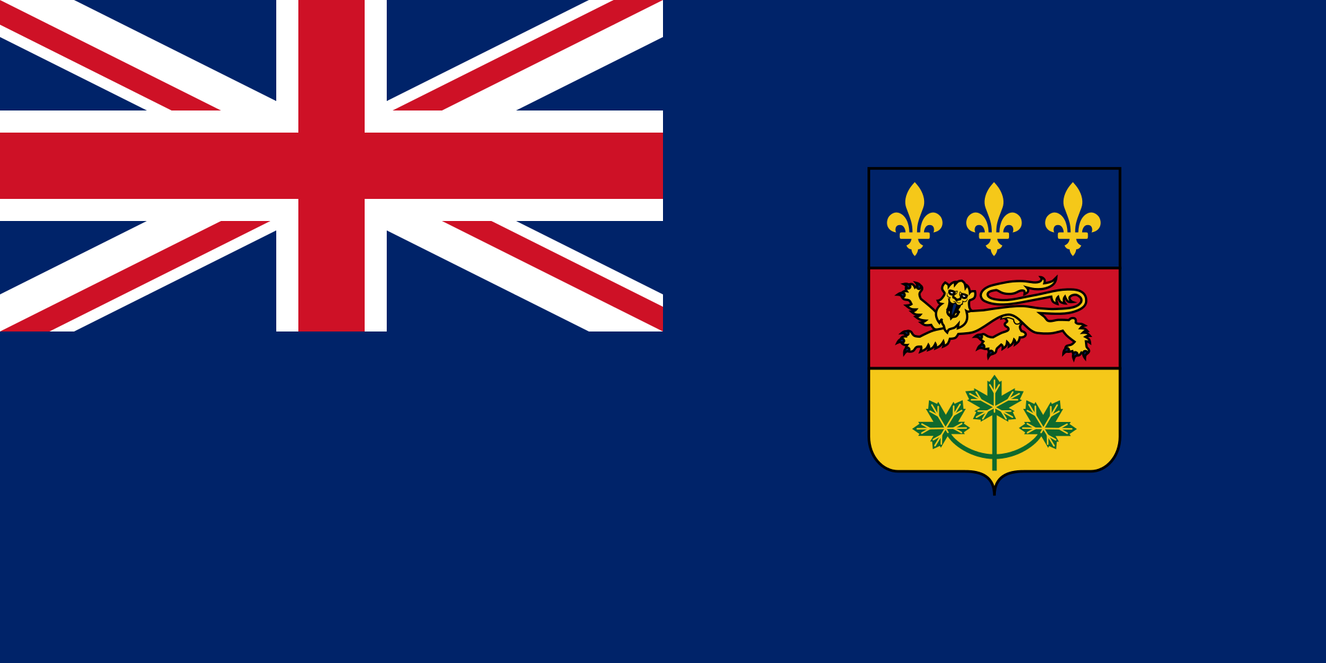 quebec blue ensign