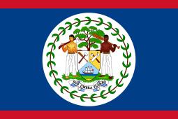 Vlag Belize vanaf 1981