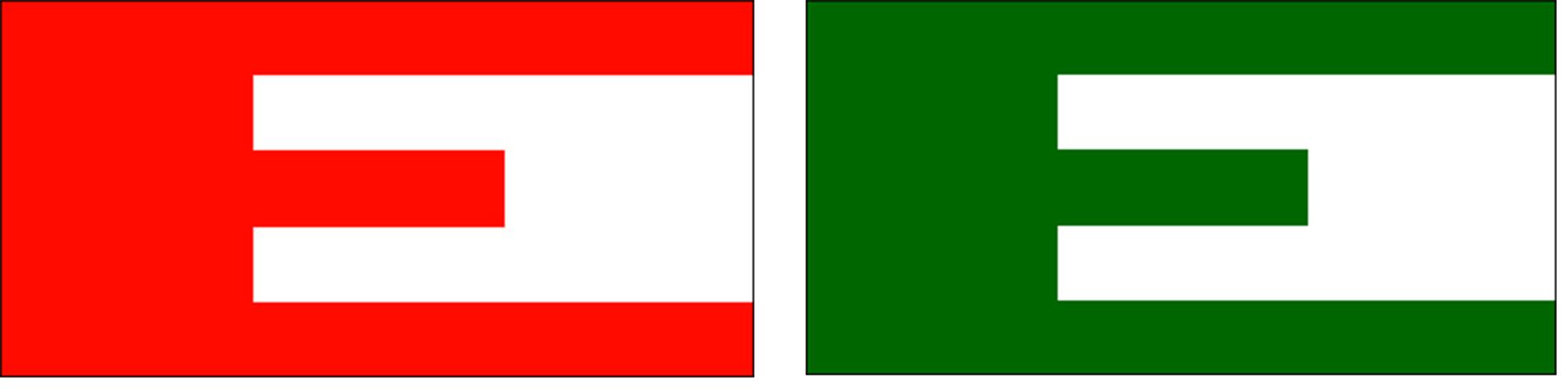 Europa vlaggen rood groen