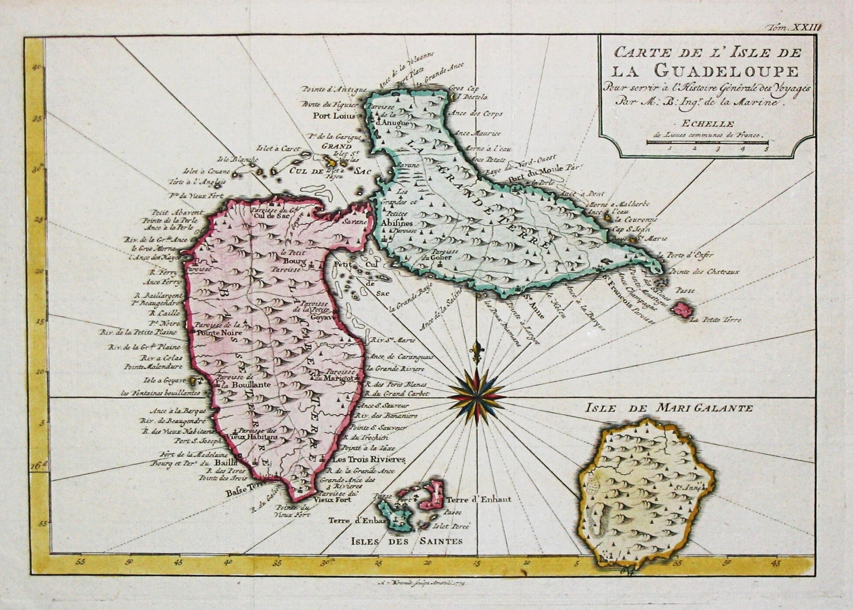 Guadeloupe oude kaart