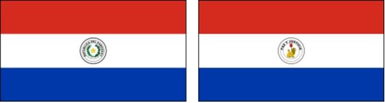 vlaggen pagaguay naast elkaar
