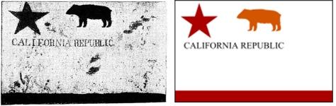 californie vlaggen naast elkaar