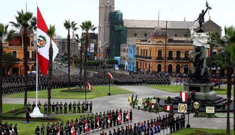 Dia de la bandera, Lima