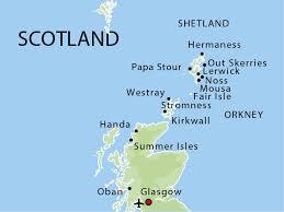 Map Orkney + Shetland
