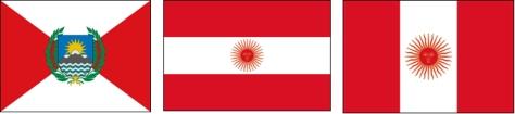 peru vlaggenparade
