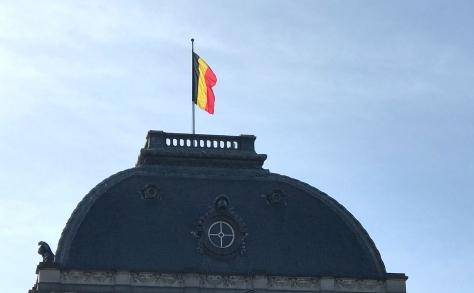 belgie paleis met vlag