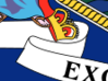 Gevallen kroon op vlag New York State