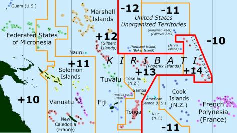 Kiribati date line