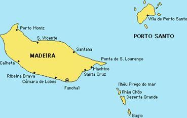Madeira archipel kaart
