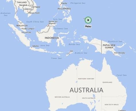 Palau locatie map