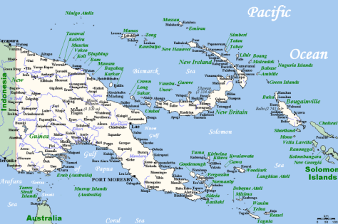 Papoea-Nieuw-Guinea map