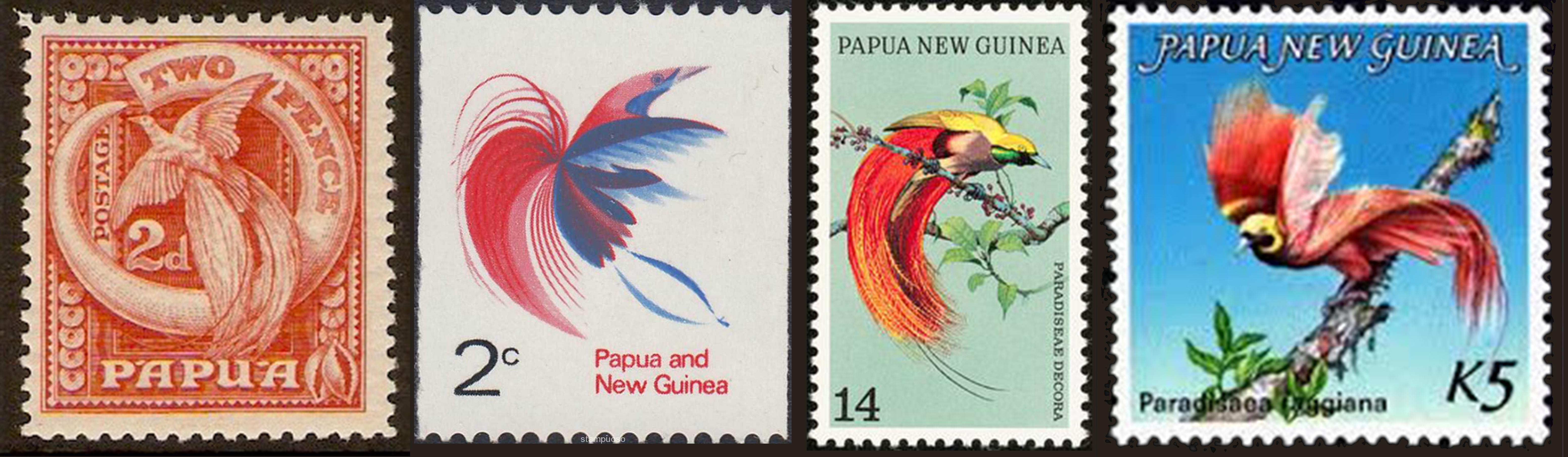 papoea postzegels