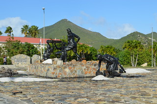 Salt pickers monument - sint maarten