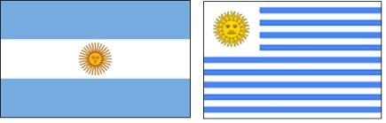 uruguay naast elkaar