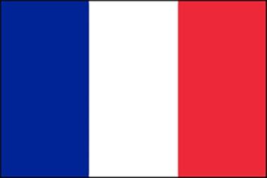 vlag frankrijk omkaderd