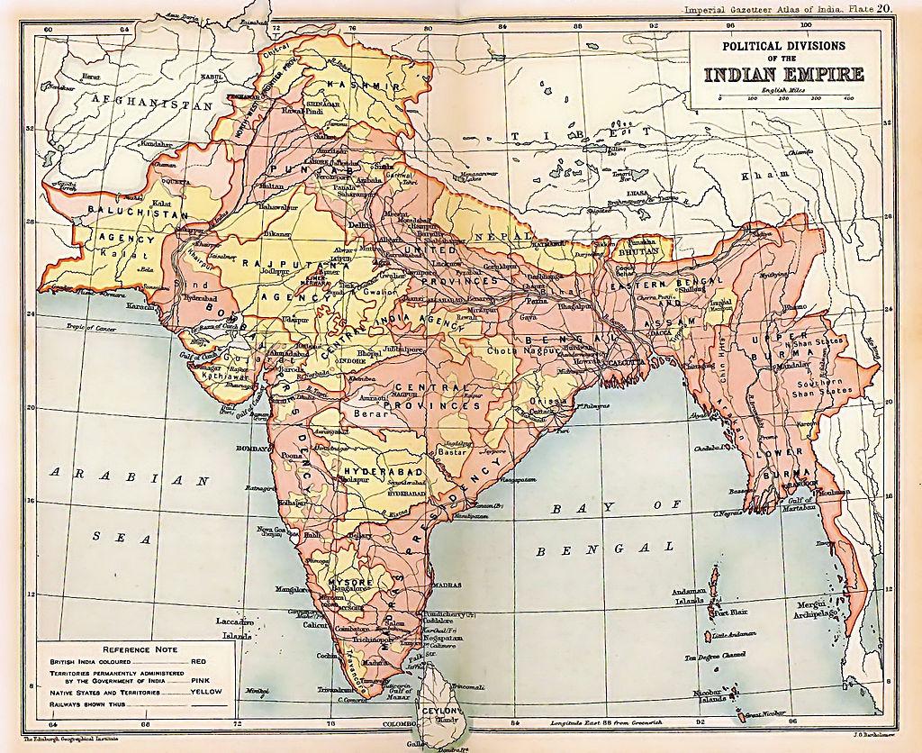 British Raj 1909