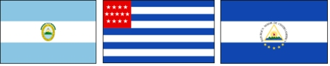 el salvador drie historische vlaggen