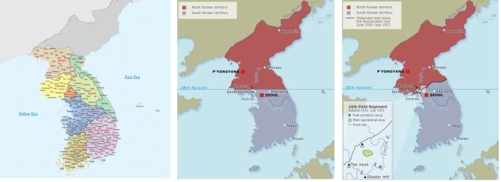 korea kaart