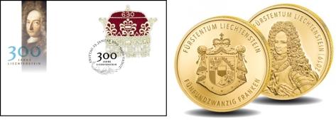lichtenstein envelop munt