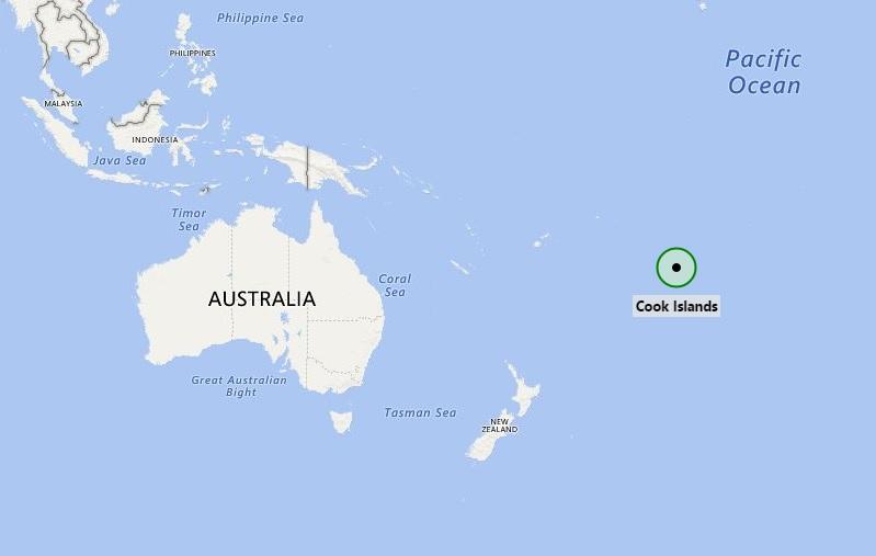 Locatie Cookeilanden
