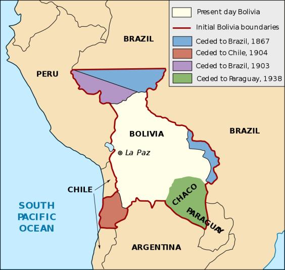 Verloren territoria Bolivia
