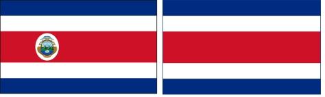 costa rica 01 vlaggen naast elkaar