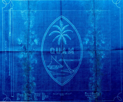 Guam vlag blueprint