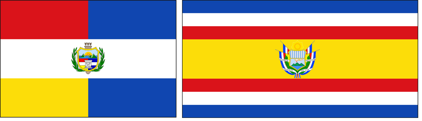 guatemala 01 vlaggen naast elkaar
