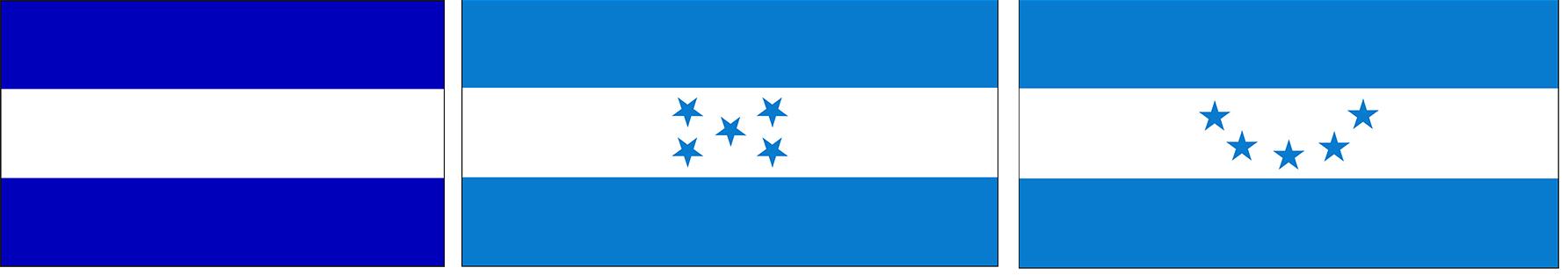 honduras 01 vlaggen drie