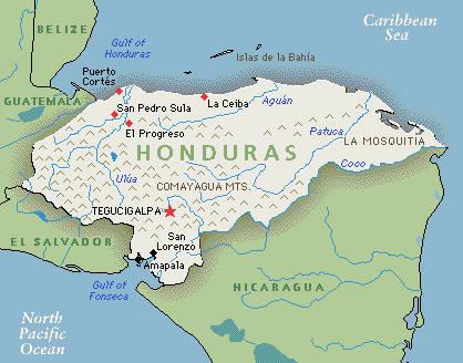 Honduras kaart