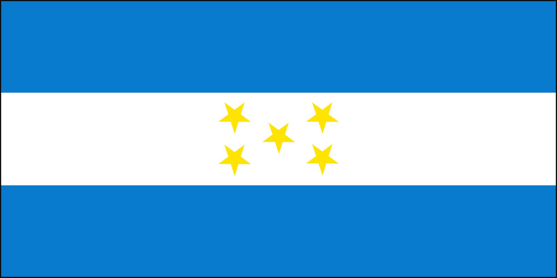 Honduras vlag 1898-1949