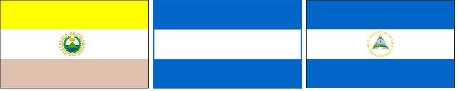 nicaragua 01 vlaggen naast elkaar