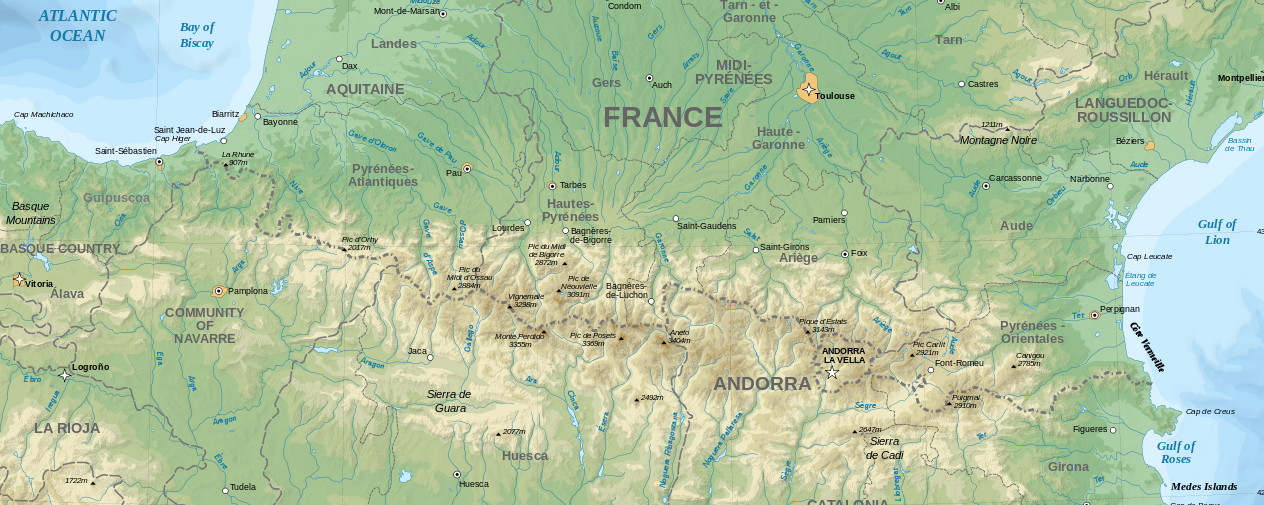 Pyreneeën map