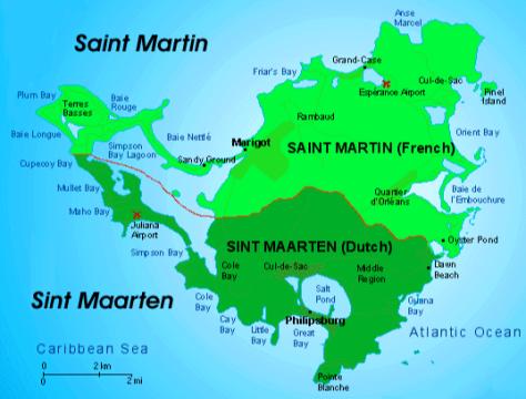 Sint Maarten map