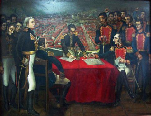La capitulación de la batalla de Pichincha.JPG