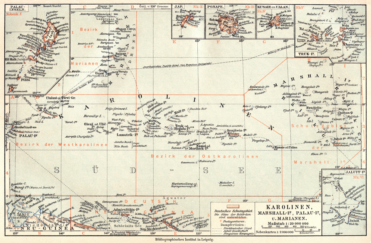 Duits Micronesië map