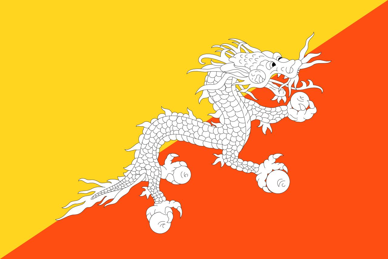 Bhutan vlag