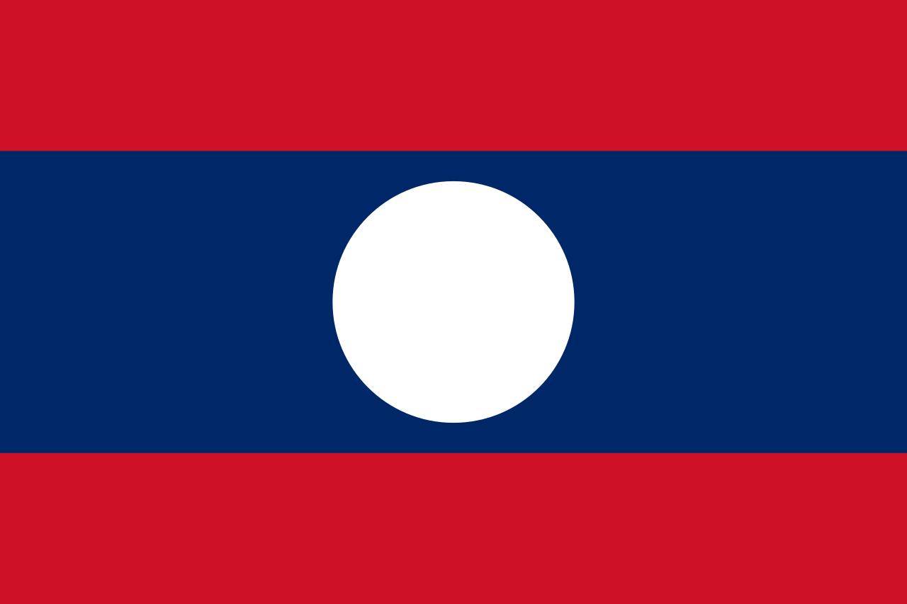 Laos vlag 4