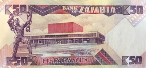 Zambia - Bankbiljet van 50 kwacha