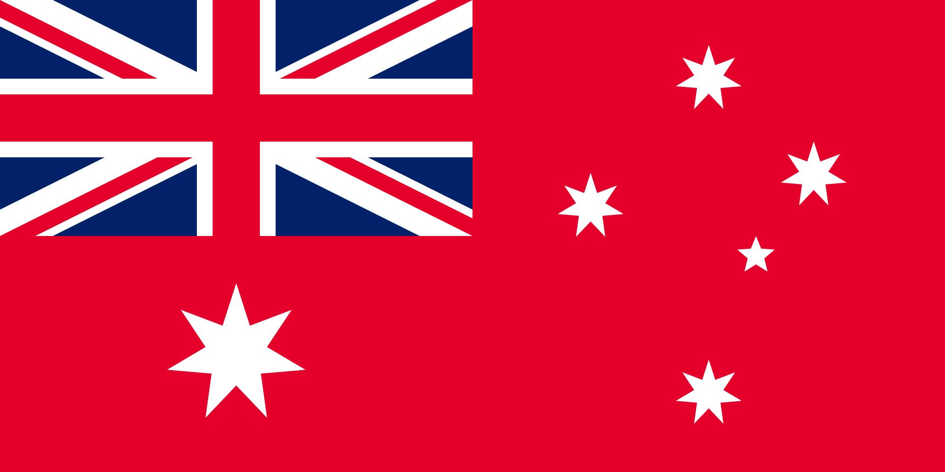 Australië - vlag rood