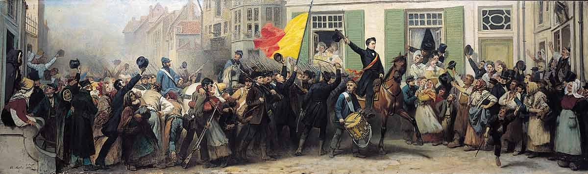 Wallonnië - Luikse vrijwilligers arriveren in Brussel